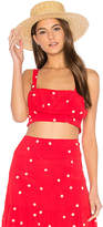 For Love & Lemons Chiquita Tank Top in Red