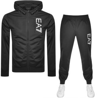 EA7 Emporio Armani Logo Tracksuit Black