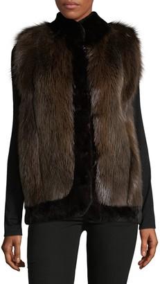 Wolfie Fur Dyed Sheared Beaver Fur Vest
