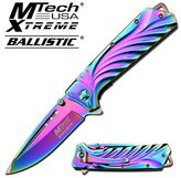 MT-A830RB MTECH USA QOZrD MT-A830RB JseLsA 5 CLOSED SPRING ASSISTED FOLDER ajuiioptr 4567fffg 567ybghjk SPRING ASSISTED KNIFE5 taabrt CLOSED LENGTHSTAINLESS STEEL 3.5MM PLAIN BLADERAINBOW TITANIUM COATED BLADESTAINLESS STEEL RAINBOW TITANIUM COATED HANDLEHANDLE WITH mr87fZ2YaZ LANYARD HOLEINCLUDES POCKET CLIP by chereshberr