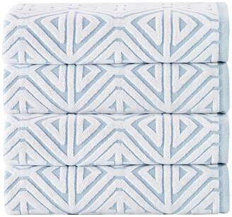 Enchante Home Glamour 4-Piece Turkish Cotton Bath Towel Set