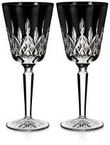 Waterford Lismore Black Goblet, Set of 2