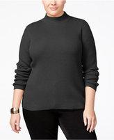 Karen Scott Plus Size Mock-Neck Sweater, Only at Macy's