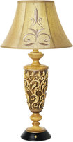 Pacific Coast Carved Resin Body Table Lamp