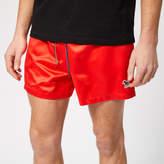 Paul Smith Men's Zebra Swim Shorts Red