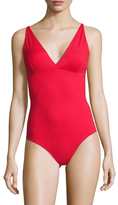 Melissa Odabash Madrid Solid V-Neck One Piece Swimsuit