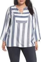 Vince Camuto Bell Sleeve Stripe Top