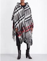 Anglomania Tartan knitted poncho