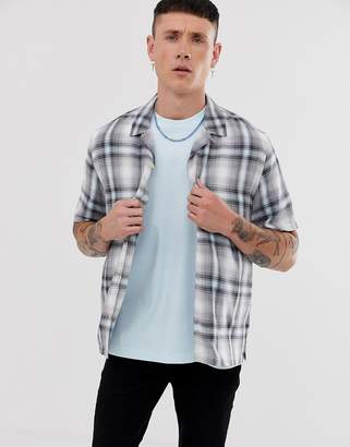 AllSaints oversized shirt in blue check