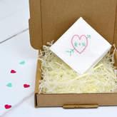 Adventures and Tea Parties Personalised Handkerchief : Heart And Arrow