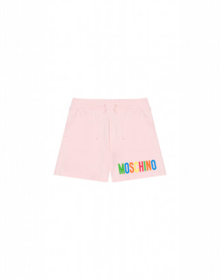 Moschino Multicolour Logo Shorts Woman Pink Size 4a It - (4y Us)