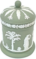 One Kings Lane Vintage Antique Wedgwood Classical Canister - Vermilion Designs - green/white