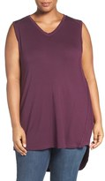 Melissa McCarthy High/Low V-Neck Tank (Plus Size)
