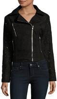 Buffalo David Bitton Embellished Faux Suede Moto Jacket