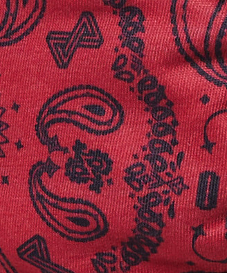 Standard Fitted Paisley Face Mask Black Red