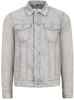 Topman Gray Acid Wash Denim Jacket