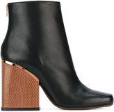 Marni block heeled booties - women - Leather - 36