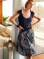 Crinkled tie-dye skirt