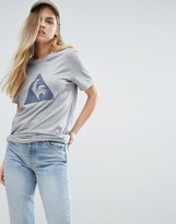 Le Coq Sportif Boyfriend T-Shirt With Large Logo