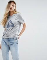 Le Coq Sportif Boyfriend T-Shirt With Large Logo