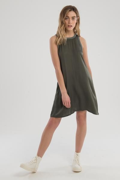 Nation Ltd. The Piper A Line Dress In Green - XS