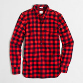 J.Crew Factory Petite plaid popover shirt in flannel in perfect fit