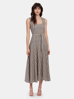 Saloni Lottie A-Line Midi Dress