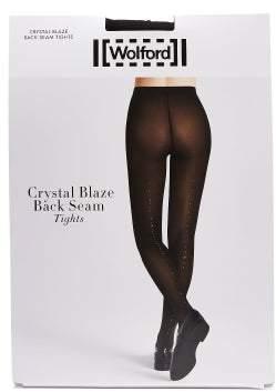 Wolford Crystal Affair Back-seam Tights - Womens - Black