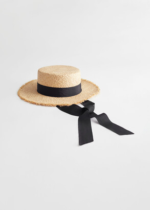 And other stories Straw Ribbon Boater Hat