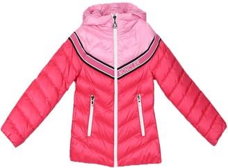 Moncler Kids Pink Logo Puffer Jacket