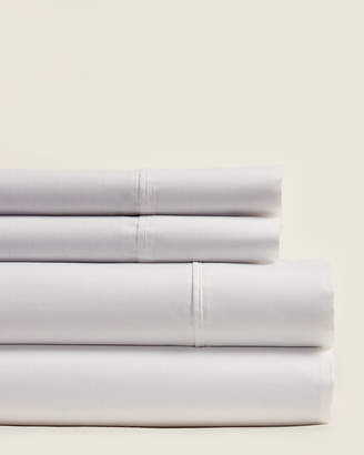 Aq Textiles 4-Piece White Cool Comfort 400 Thread Count Sheet Set