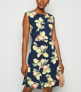 New Look Lemon and Print Dress