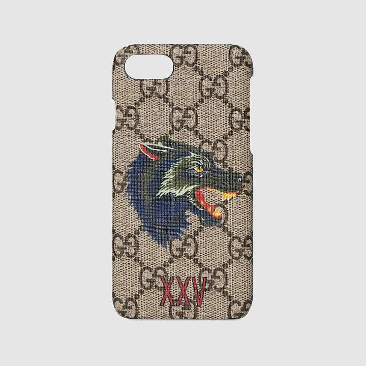 Gucci Wolf print iPhone 7 case
