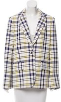 ADAM by Adam Lippes Plaid Notch-Lapel Blazer w/ Tags