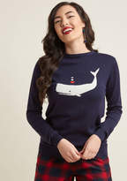 Sugarhill Boutique Very Whale Then Sweater in 18 (UK) - Long Pullover Waist by from ModCloth