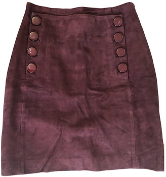 Sandro Burgundy Suede Skirts