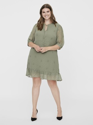 Junarose Amana Printed Tea Dress - Sage Green