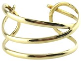 Tiffany & Co. 18K Yellow Gold Angela Cummings Cross Over Cuff Bangle Bracelet