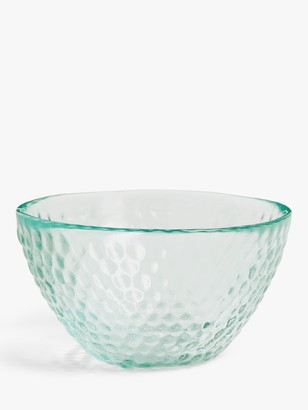 John Lewis & Partners Textured Recycled Glass Sundae Dish, Clear, 13cm