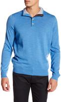 Thomas Dean Mock Neck Wool Sweater