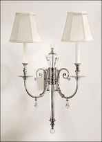 The Well Appointed House Two-Light Electrified Silver Plated Wall Sconce