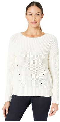 Vineyard Vines Relaxed Ribbed Crew Neck (Marshmallow) Women's Sweater