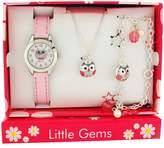 Ravel Kids Girls Owl Jewellery & Watch , Necklace Charm Bracelet Gift Set R2225