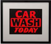 Rejuvenation Framed NOS Car Wash Sign
