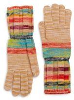 Missoni Striped Wool-Blend Gloves