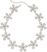 Natasha Accessories Natasha Crystal Flower Statement Necklace