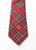 Lauren Ralph Lauren Lauren by Ralph Lauren Red Men's One Size Plaid Silk Neck Tie