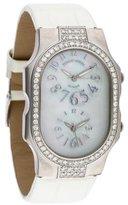 Philip Stein Teslar Dual Time Zone Watch w/ Alligator Strap