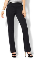New York & Co. 7th Avenue Design Studio - Straight-Leg Pull-On Pant - Signature - Universal Fit - Ponte - Petite