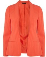 Dorothy Perkins Womens Red Crepe Jacket- Red